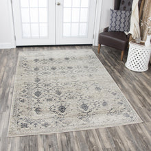 """Diddly Squat"" Natural Distressed Rug"