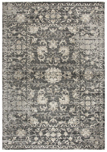 """Well I S'wanee"" Charcoal distressed Rug"