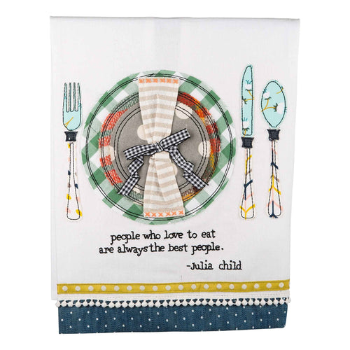 People Who Love To Eat Tea Towel