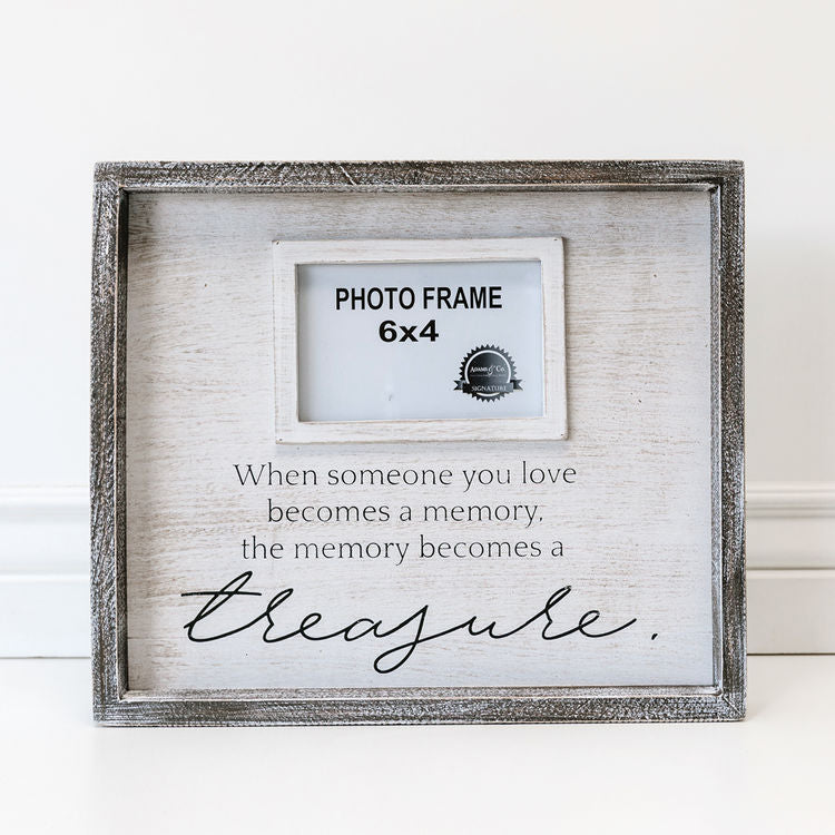 Memory Becomes a Treasure Photo Frame