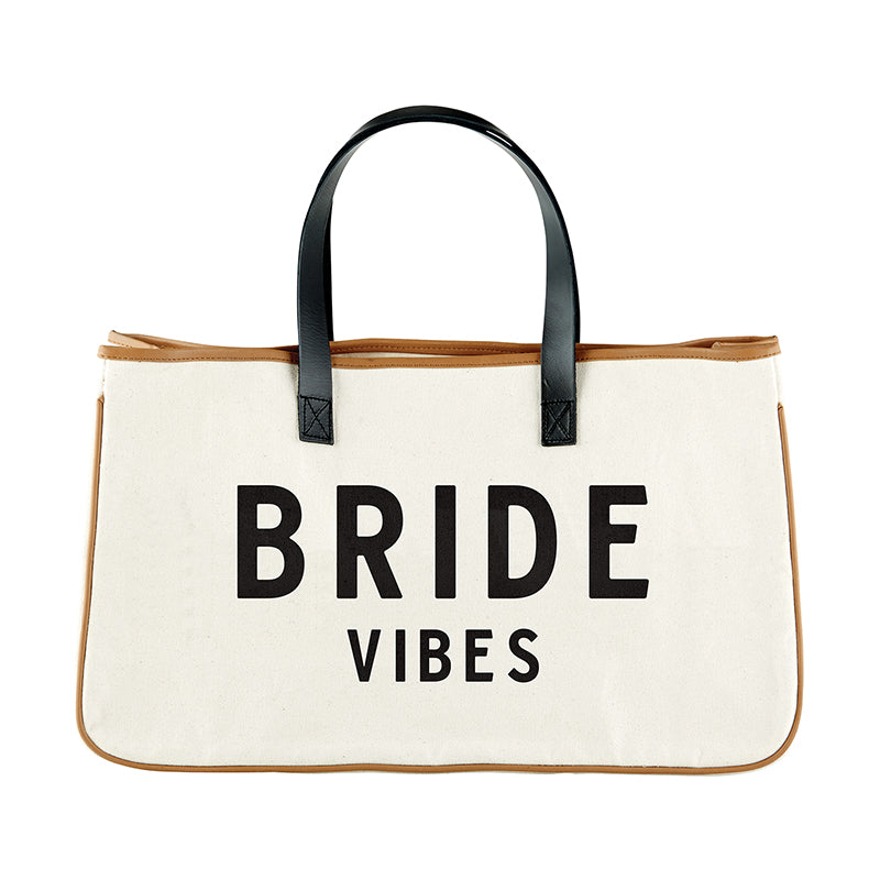 Bride Vibes Canvas Tote