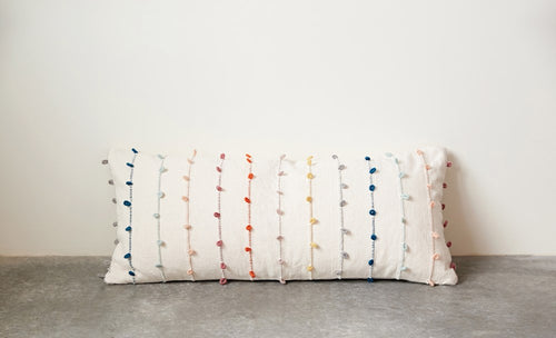 Embroidery Loop Pillow