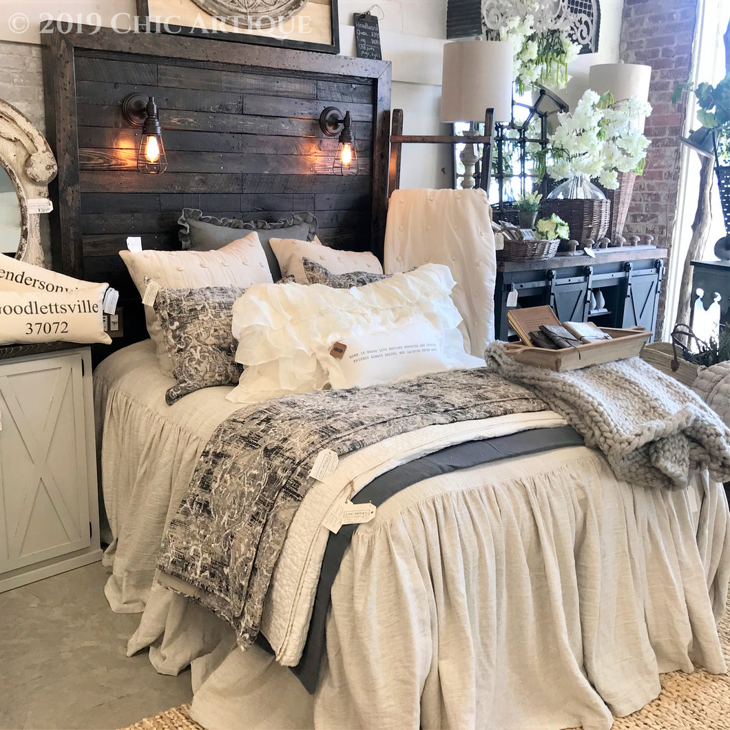 Rustic Lighted Headboard