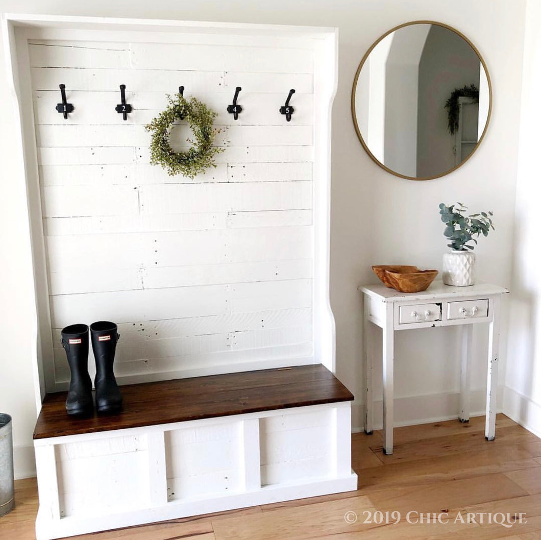 Rustic Y All Hall Tree With Bench Chic Artique