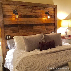 """Too Big for His Britches"" Rustic Headboard"