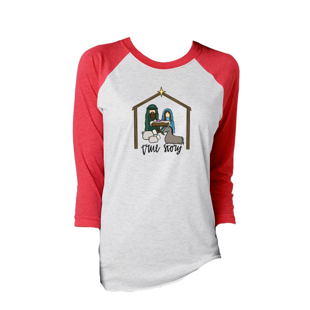 True Story Christmas Raglan Shirt