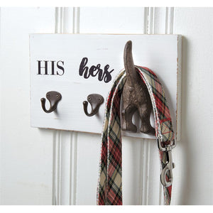 His, Hers & Pup Wall Hook