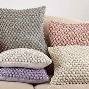 Crochet Pom Pom Down Pillow