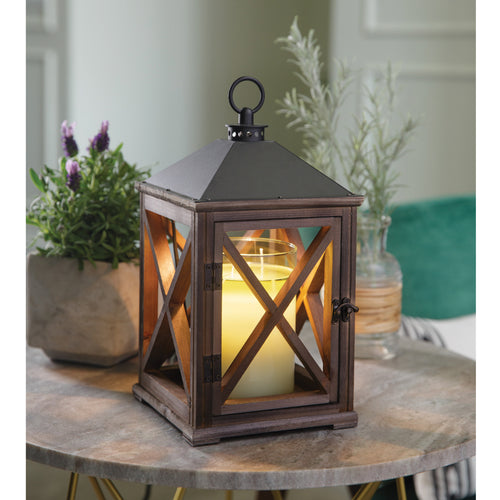 Weathered Espresso Lantern Warmer