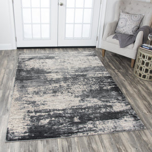 Storm Gray Distressed Rug