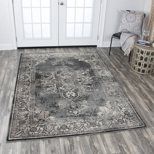 Charcoal Distressed Rug