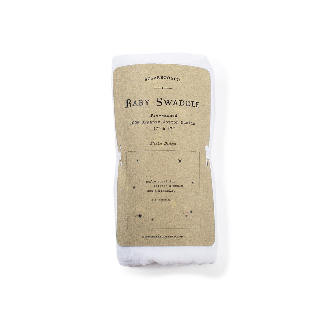 E.B. Browning Swaddle Blanket