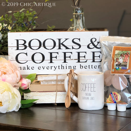 Books & Coffee Sign