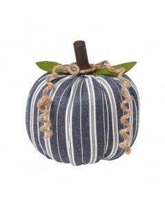 Medium Navy Stripe Fabric Pumpkin