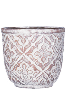 Patterned Round Pot