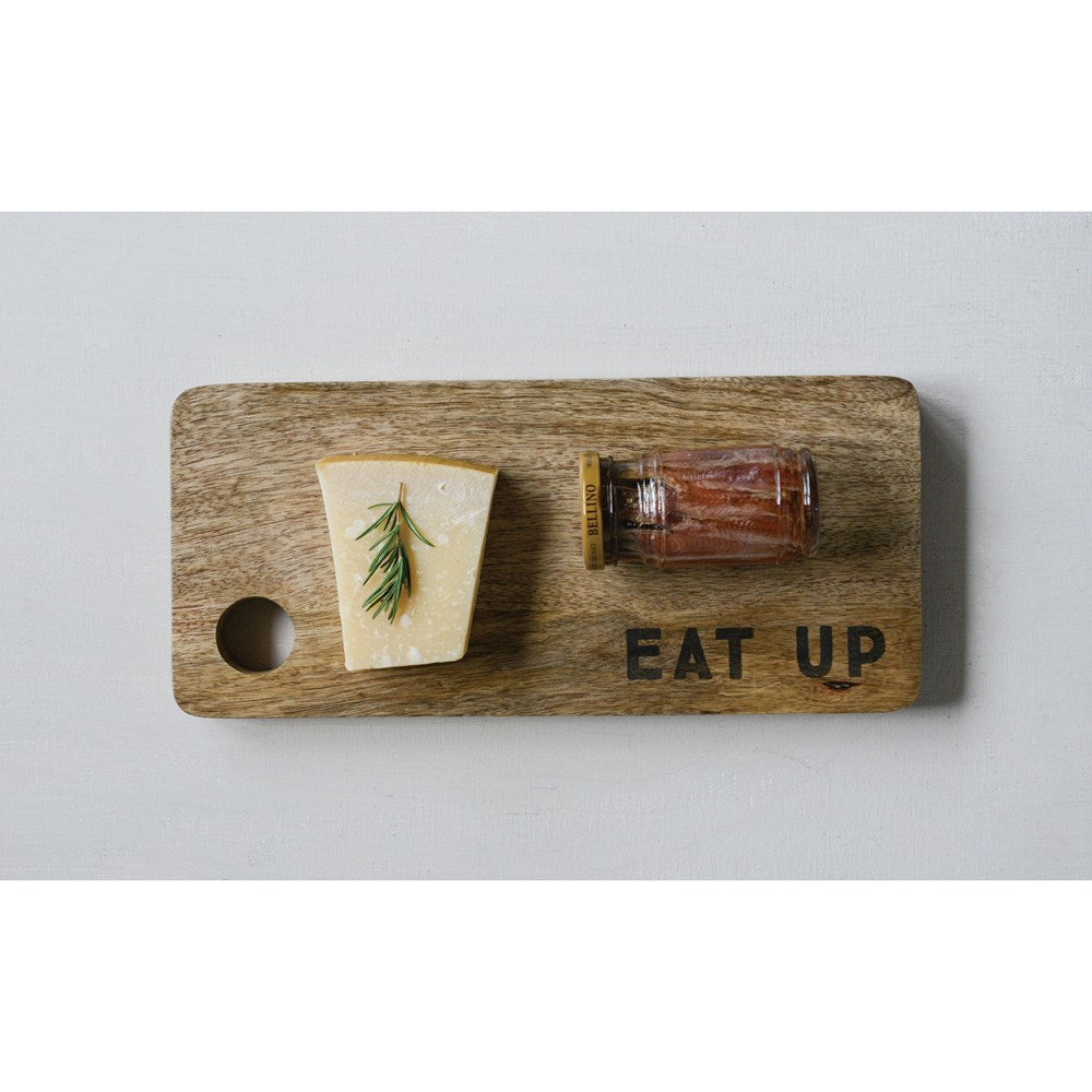 Eat Up Wood Cutting Board