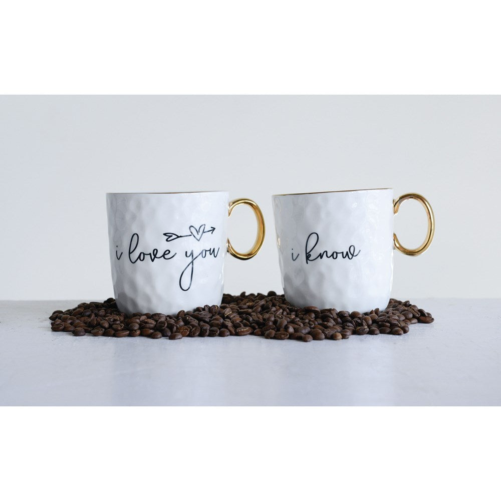 I Love You, I Know Mug Set