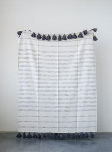 Woven Striped Throw