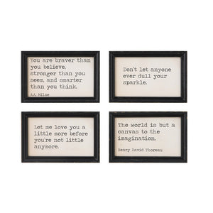 Wood Framed Wall Quotes