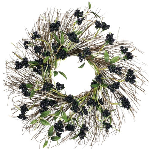 Faux Birch Berry Wreath