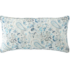 Blue Paisley Decorative Pillow