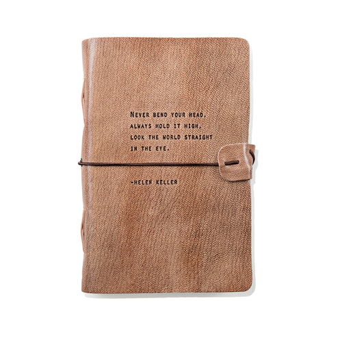 Leather Journal Helen Keller