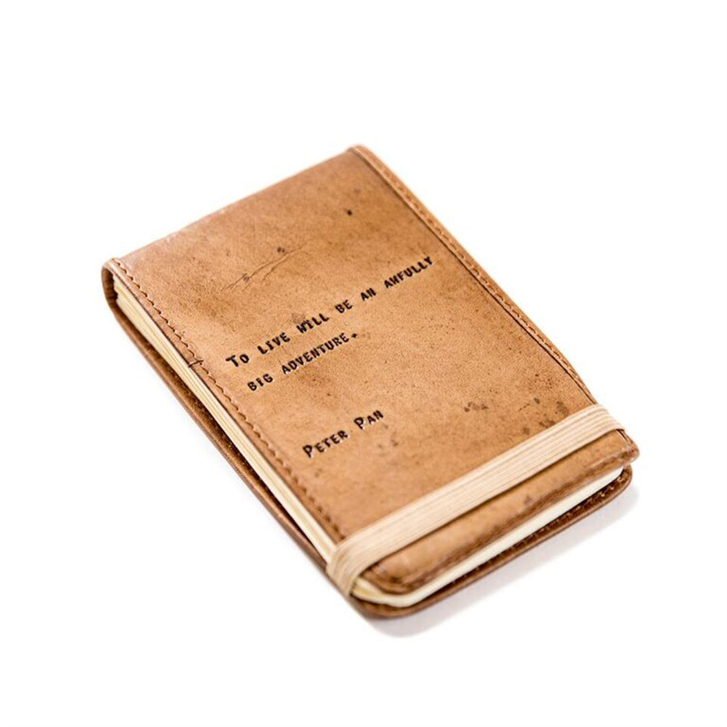 Leather Journal Peter Pan