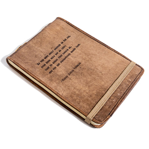 Leather Journal Henry David Thoreau