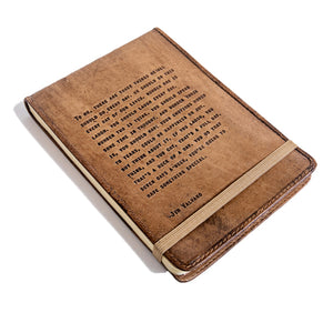 Leather Journal Jim Valvano