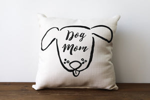 Sketchy Dog Mom Pillow