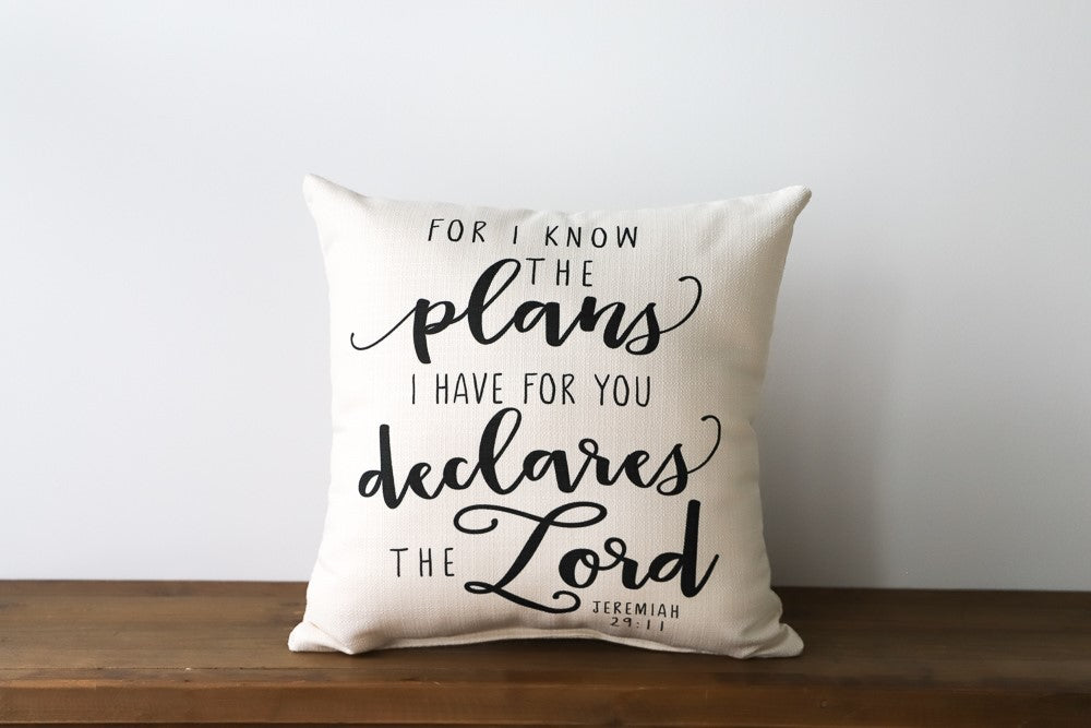 For I Know the Plans Script Pillow