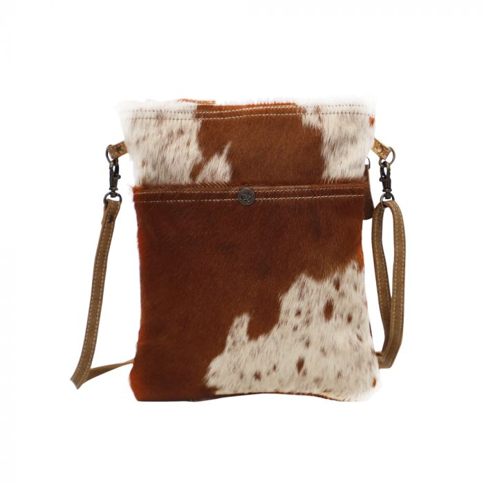 Myra White & Cocoa Hairon Cross Body