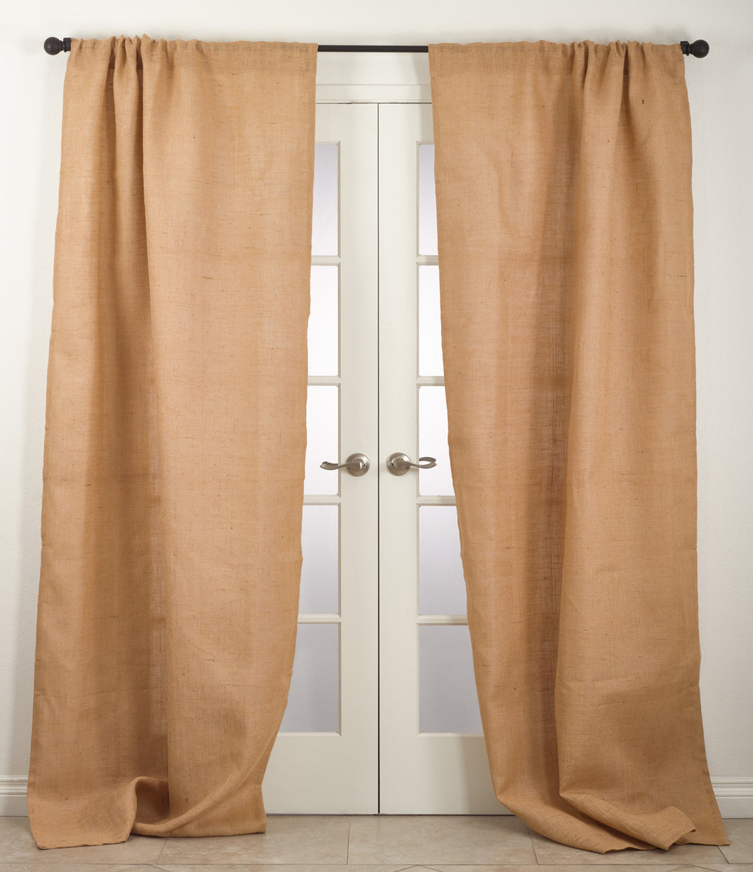 Blaine Burlap Curtain Panels