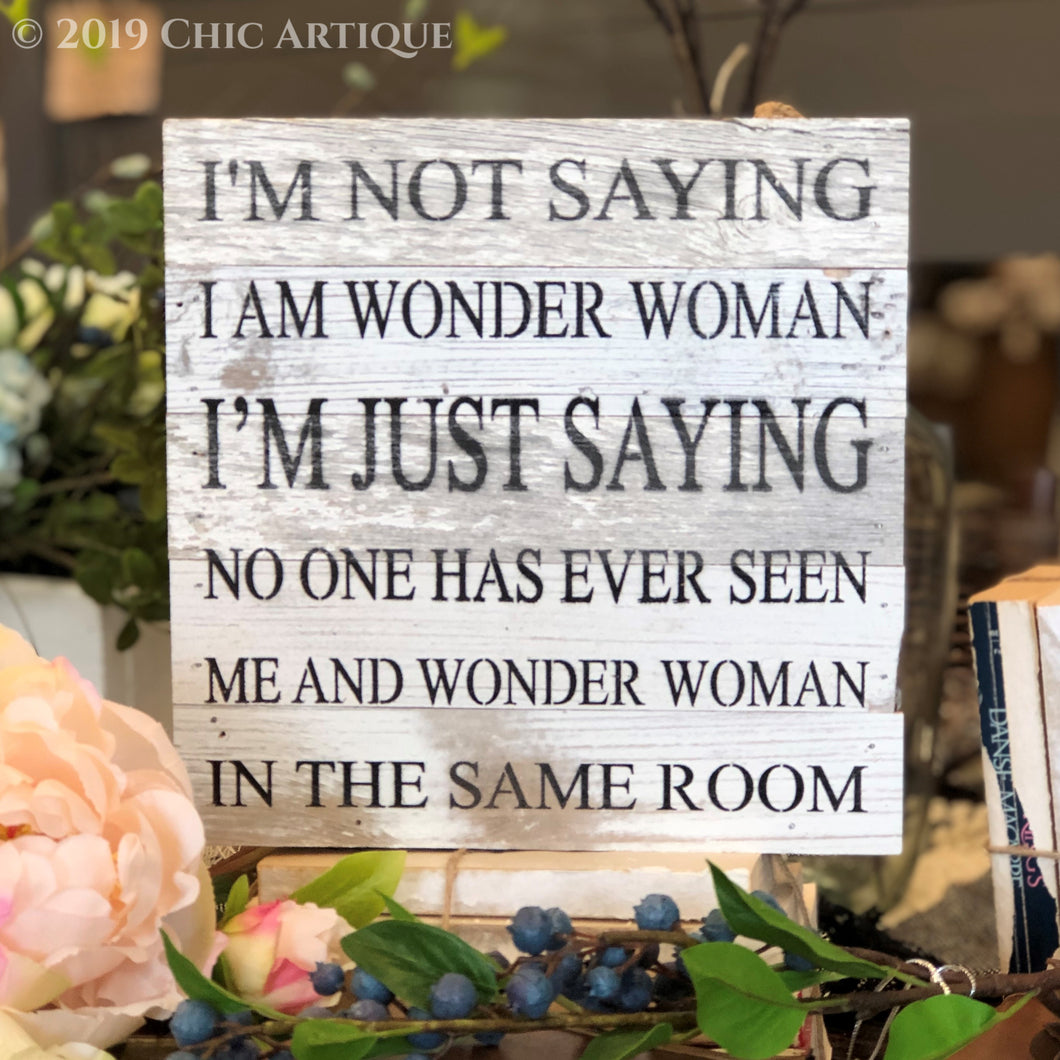 Wonder Woman Reclaimed Wood Sign