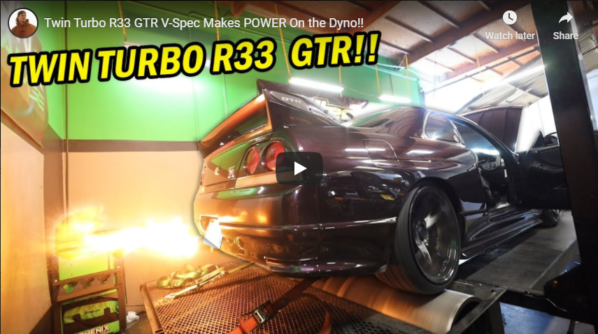 Twin Turbo R33 GTR V-Spec Makes POWER On the Dyno!!