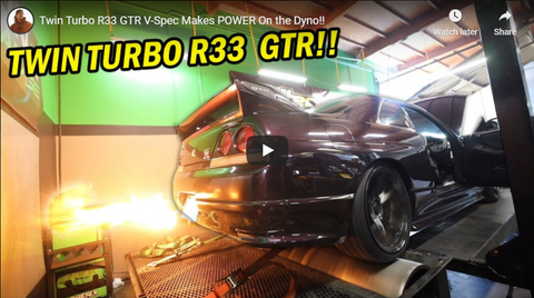 Dustin Williams R33 GT-R Vspec from Toprank Importers on the dyno