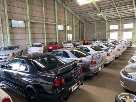 how to buy and store an R34 GT-R in Japan until it is 25 years old from Toprank Importers