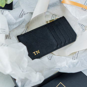 Copy of Leather Zip Card Holder - Black (5183138201734)