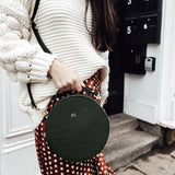 Personalised Croc Leather Round Circle Bag (2213100060734)