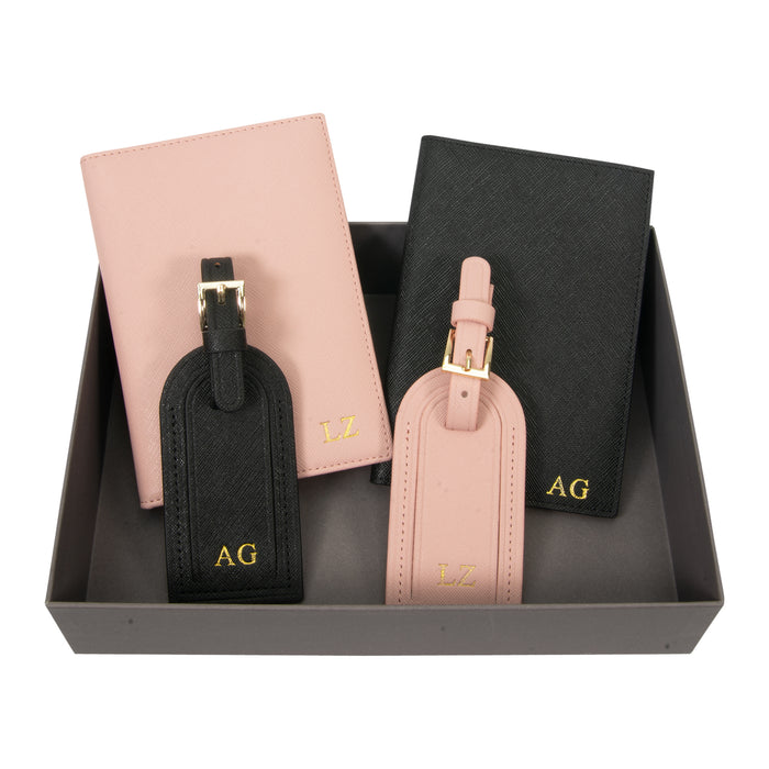 Personalised Couples Travel Gift Set
