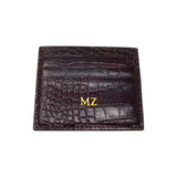 Personalised Wine Croc Leather Cardholder (4289302921350)