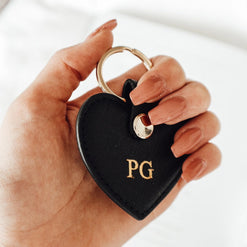 Personalised Real Leather Heart Keyring (2213100126270)