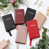 Red Personalised Leather Passport Holder (2213103861822)