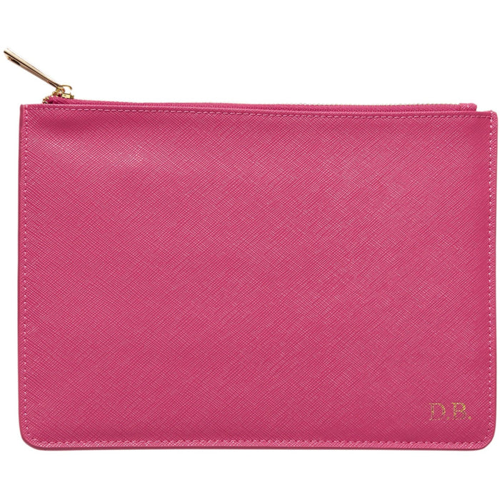 Personalised Leather Pouch - Pink