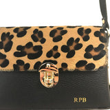 SALE Personalised Leopard Animal Print Leather Bag