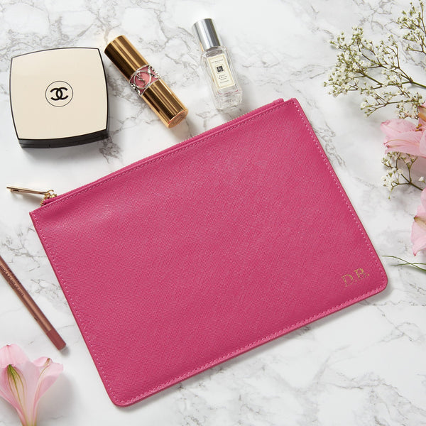 Personalised Leather Pouch - Pink (2213111234622)