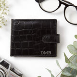 Mens Personalised Croc Leather Wallet (2213107728446)