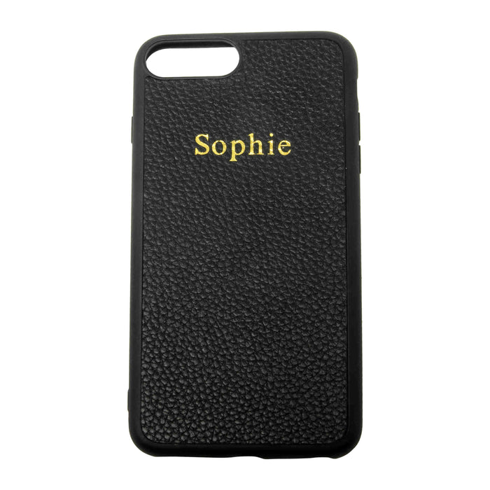 Grained Leather Personalised iPhone 11 Case XS Max (4371689046150)