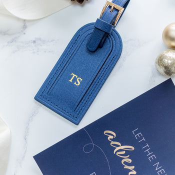 Personalised Navy Luggage Tag (5178137149574)