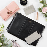 Personalised Large Grained Leather Pouch (4289320288390)